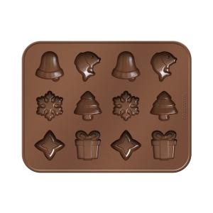 Forma p/ chocolates DELÍCIA SILICONE, Natal