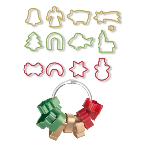Christmas cookie cutters DELÍCIA, 13 pcs