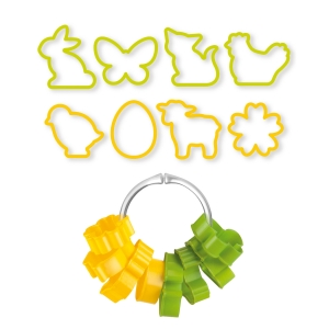 Easter cookie cutters DELÍCIA, 8 pcs