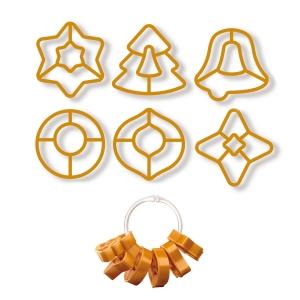 Tagliabiscotti per decorazioni natalizie DELÍCIA, 6 pz, con 2 nastri