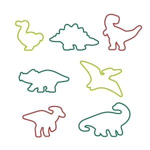Cookie cutters dinosaurs DELÍCIA KIDS, 7 pcs