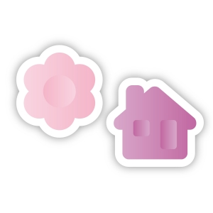 Multi-purpose cookie cutters DELÍCIA KIDS, little flower and little house