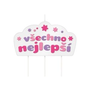 Dortová svíčka DELÍCIA KIDS, Všechno nejlepší