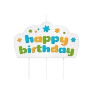 Dortová svíčka DELÍCIA KIDS, Happy birthday