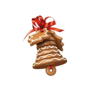 Vánoční zvoneček DELÍCIA, souprava vykrajovátek