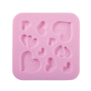 Stampo in silicone per pasta di zucchero DELÍCIA DECO, cuoricini