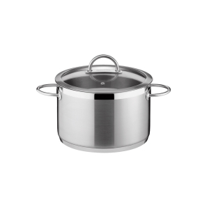 Deep pot VISION ø22 cm with cover, 5,5 l