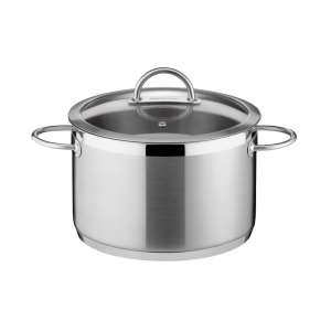 Deep pot VISION ø28 cm with cover, 11.0 l