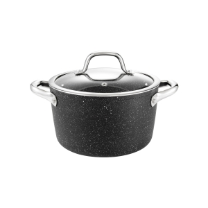 Deep pot PRESIDENT Stone with cover ø 20 cm, 3.0 l