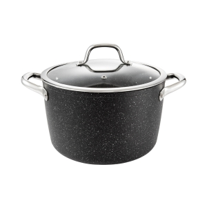 Deep pot PRESIDENT Stone with cover ø 24 cm, 6.0 l