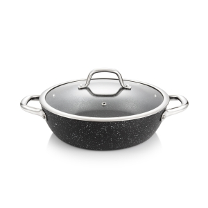 Deep frying pan PRESIDENT Stone with cover ø 26 cm