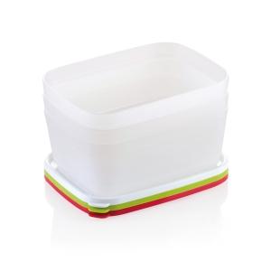 PURITY frissen tartó doboz, fagyasztóba, 1.0 l, 3 db