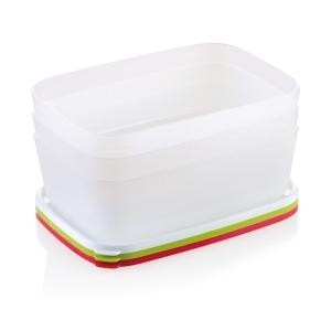 PURITY frissen tartó doboz, fagyasztóba, 1.5 l, 3 db
