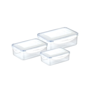Caixa rectangular FRESHBOX 3 pcs, 0.2, 0.5, 1.0 l