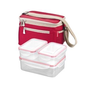Saco térmico FRESHBOX, com 3 caixas