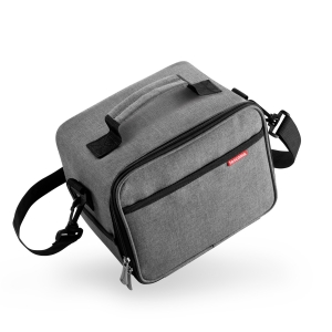 Thermal-insulating lunch bag FRESHBOX, with 3 containers, anthracite