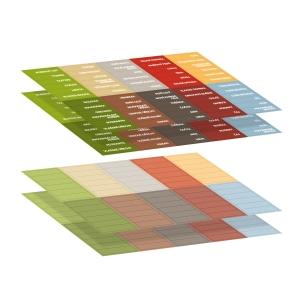 Samolepicí štítky 4FOOD, 4 archy - CZ