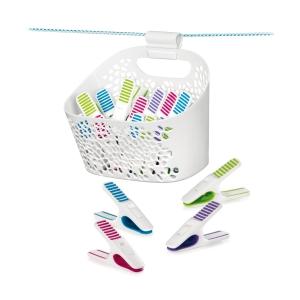 Kolíčky na prádlo v košíku CLEAN KIT, 20 ks