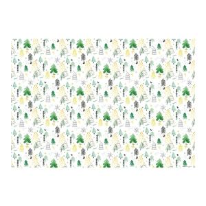 Carta da pacco natalizia 70 x 100 cm, 6 pz, bianco