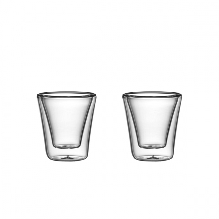 Vaso doble pared myDRINK 70 ml, 2 pzs
