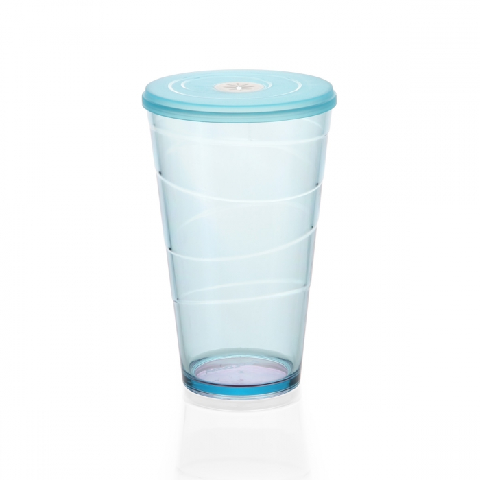 Bicchiere con coperchio myDRINK 600 ml