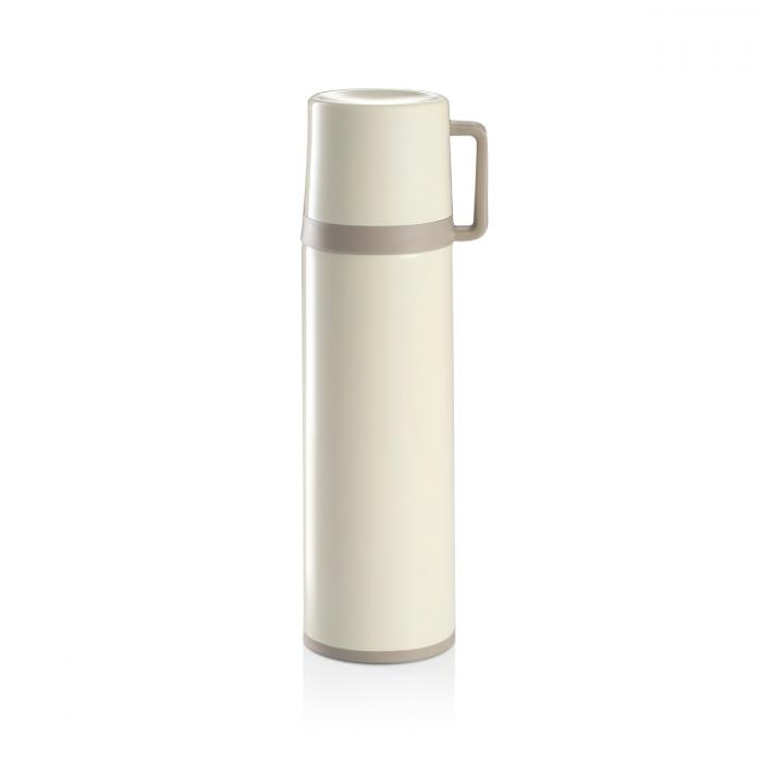 Termos c/ chávena CONSTANT CREAM 0.7 L, aço inoxidável