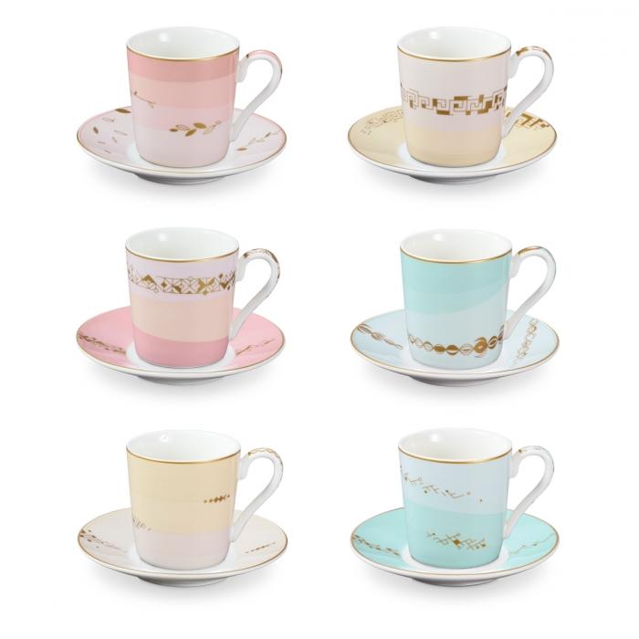 Taza de café con plato myCOFFEE, 6 pzs, Romance