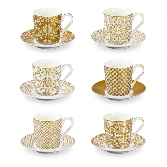 Espresso cup with saucer myCOFFEE, 6 pcs, Empire