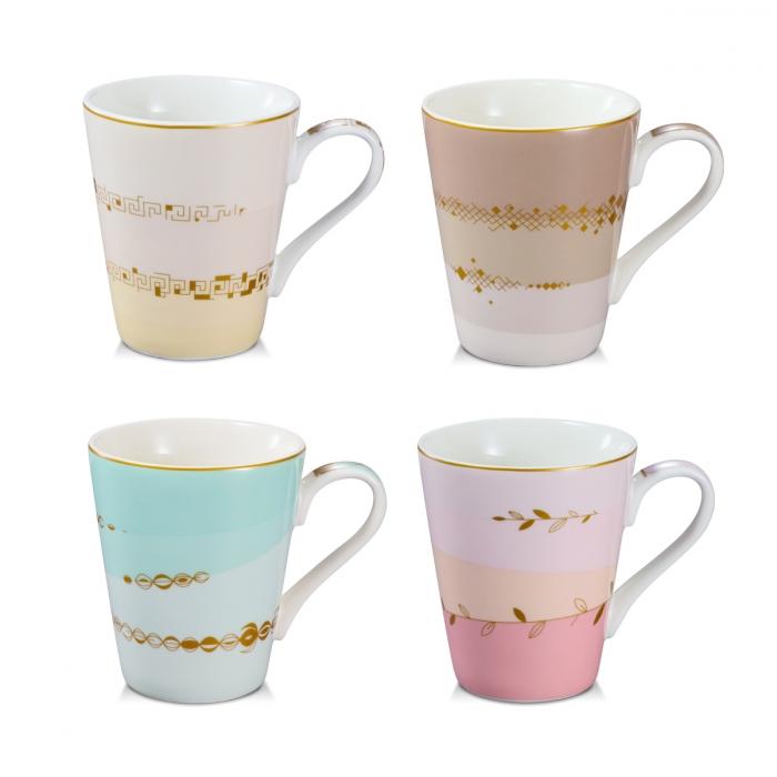 Tazza mug myCOFFEE, 4 pezzi, Romance