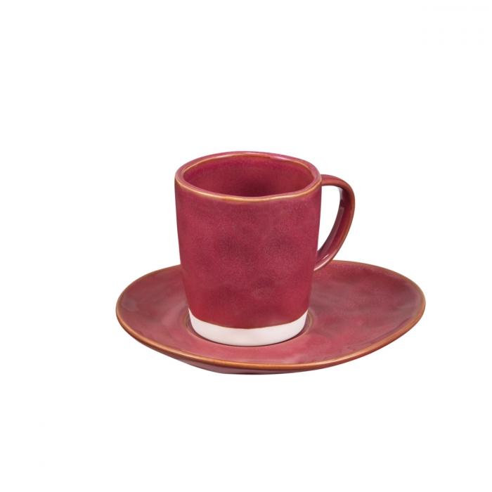 Chávena de café LIVING, c/ pires