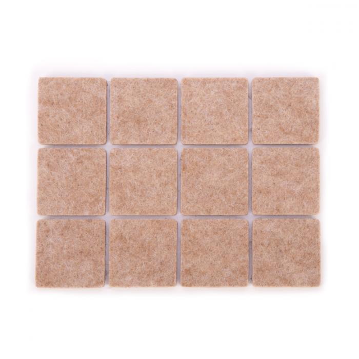 Protectores adhesivos para muebles PRESTO 30 x 30 mm, 24 pzs