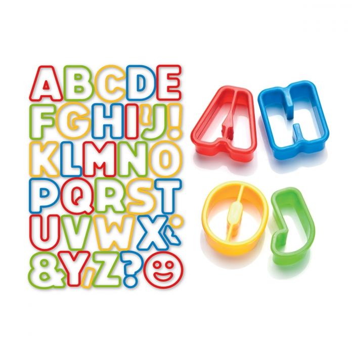 Tagliabiscotti alfabeto DELÍCIA KIDS, 34 pz
