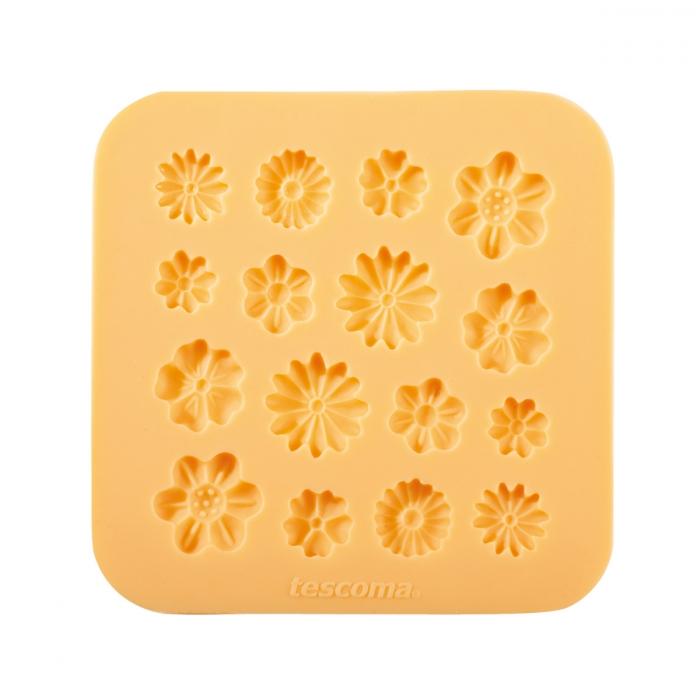 Molde motivos flores para pasta de azúcar DELICIA DECO