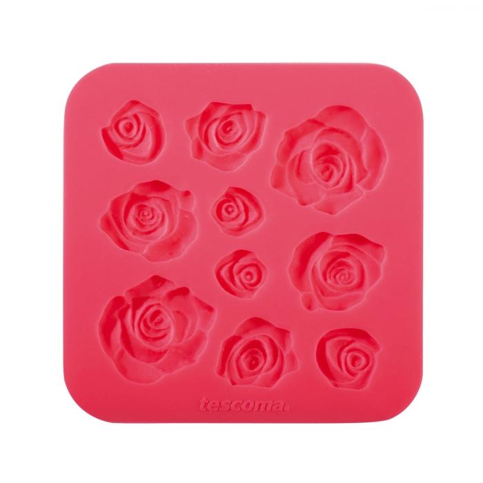 Molde motivos rosas para pasta de azúcar DELICIA DECO