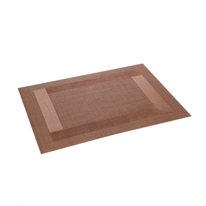 Mantel individual FLAIR FRAME 45x32 cm, marrón