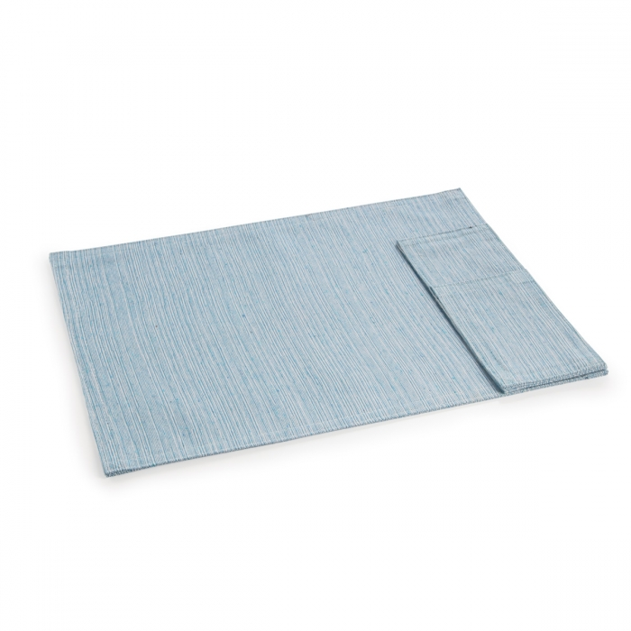 Fabric place mat with pocket for cutlery FLAIR Lounge, 45 x 32 cm