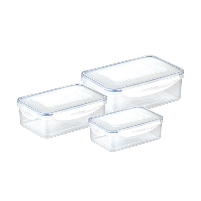 Caixa rectangular FRESHBOX 3 pcs, 1.0, 1.5, 2.5 l