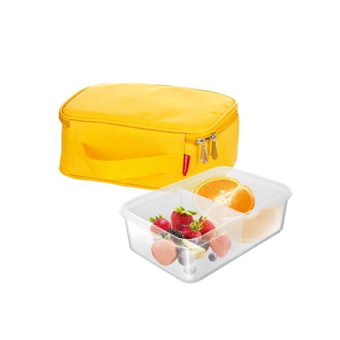 COOLBAG hűtőtáska, gél töltésű jégakkuval, 1 ételtároló doboz