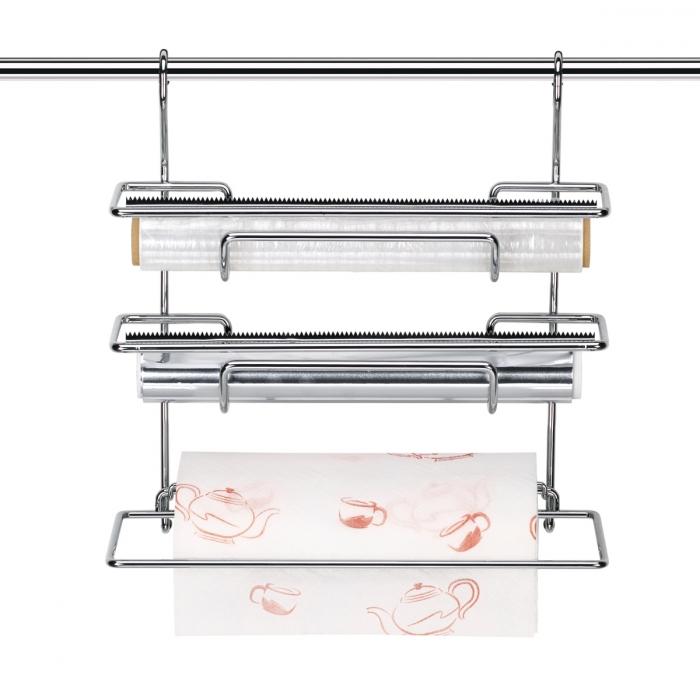 Dispenser (fogli d'alluminio, pellicola, rotolo carta) MONTI, 33 cm
