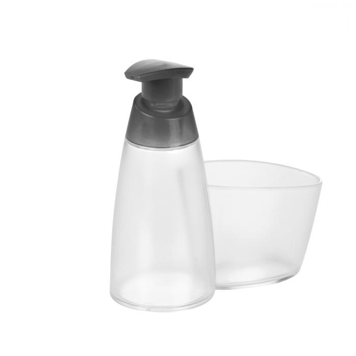 Dispensador de jabón CLEAN KIT 350 ml, con porta-estropajo