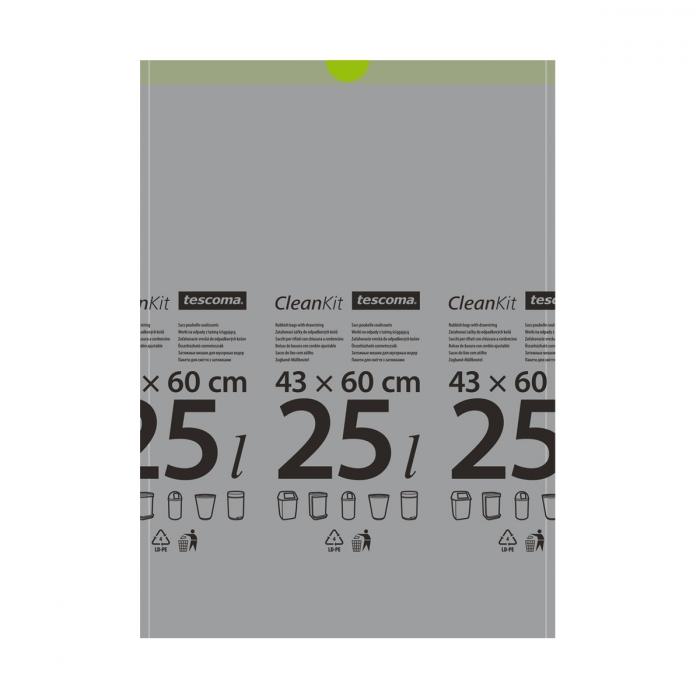 CLEAN KIT összehúzható szemeteszsák 25 l, 15 db
