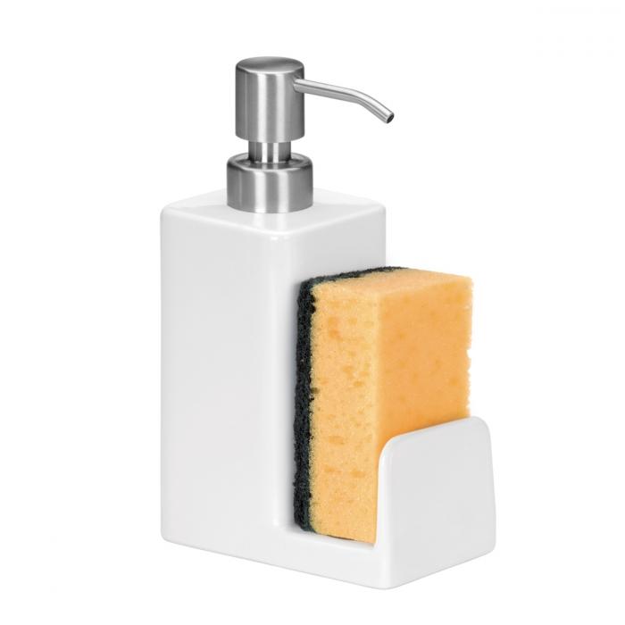 Dispenser per detergente con portaspugna ONLINE 350 ml