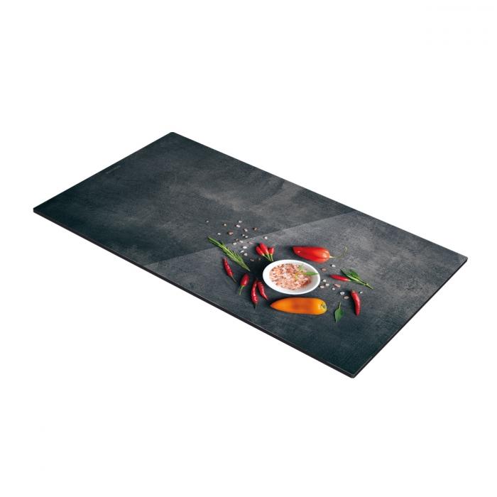 Protector placas de cocción ONLINE 30 x 52 cm, sal y guindilla