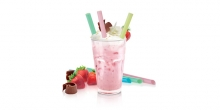 Slamky myDRINK, na jogurtové nápoje, 12 ks