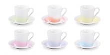 Taza de café con plato myCOFFEE, 6 pzs, Pastels