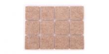 Samolepiace podložky pod nábytok PRESTO 30 x 30 mm, 24 ks