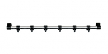 Závěsná lišta PRESTO 40 cm, 6 černých háčků