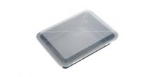 Tabuleiro fundo rectangular c/ tampa de plástico DELICIA 36x25cm