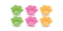 Formas de bolos em silicone DELÍCIA, 6 pcs, pequenas flores
