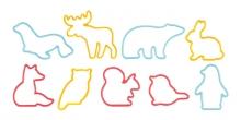 Vykrajovátka zvířátka DELÍCIA KIDS, 9 ks